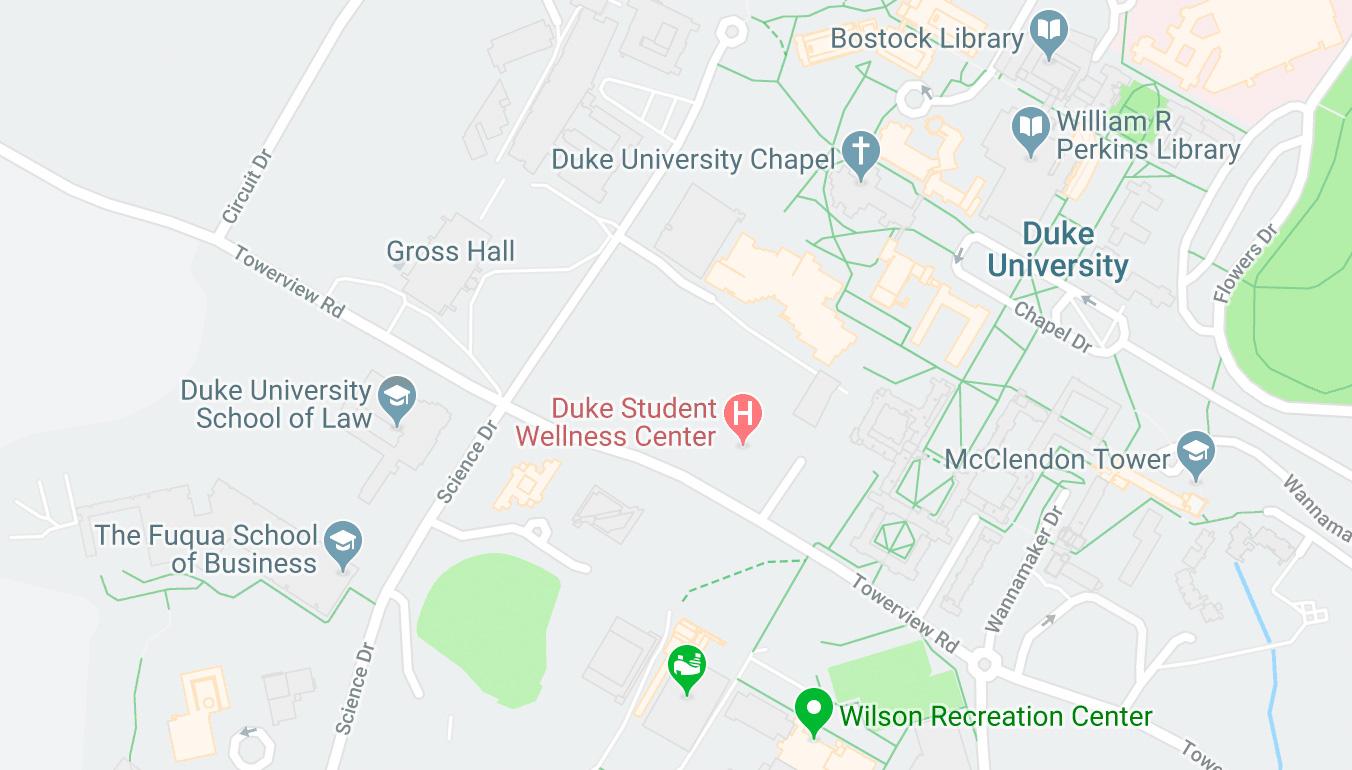 Duke Campus Map Thumbnail
